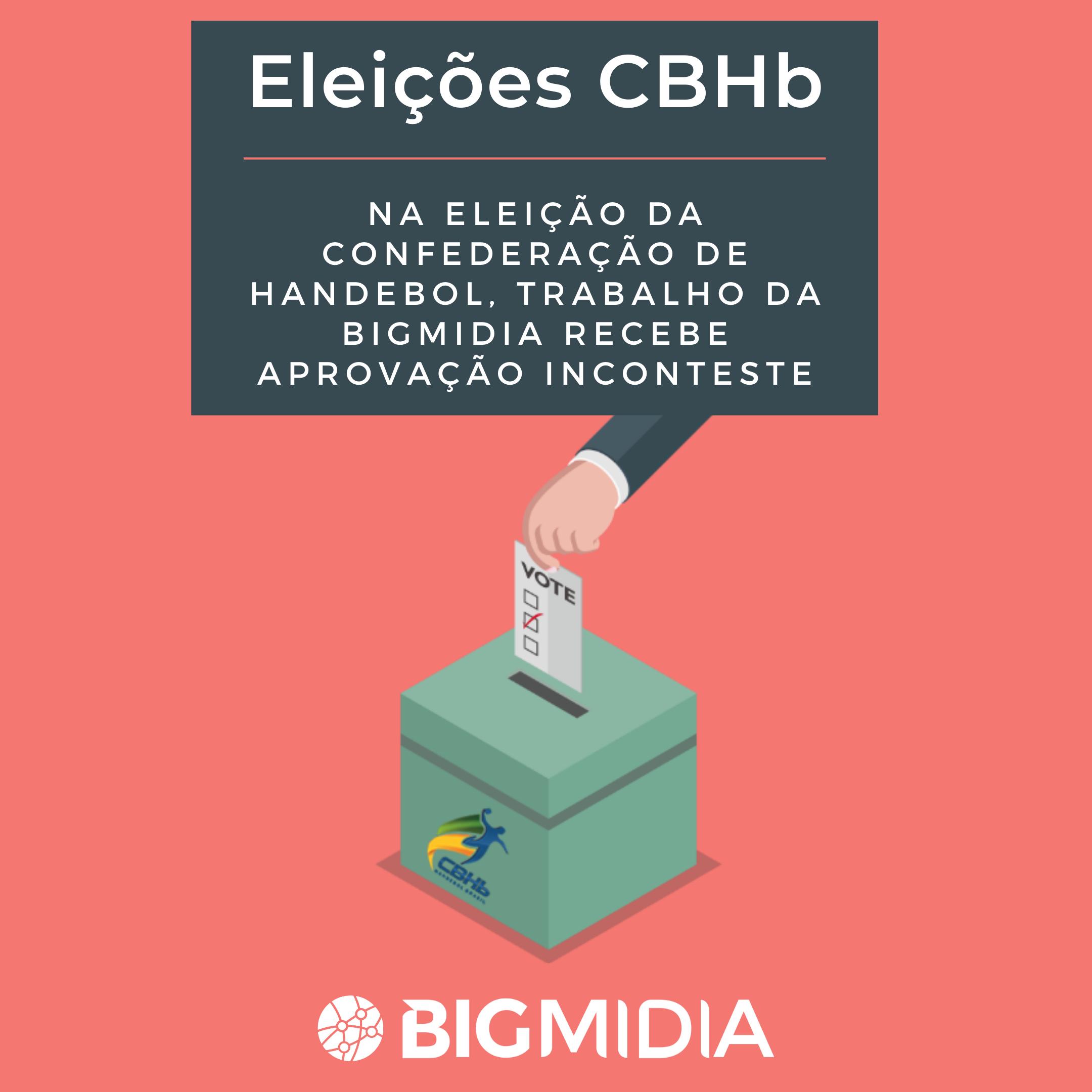 Na eleição da Confederação de Handebol, trabalho da Bigmidia recebe aprovação inconteste